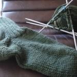 My first sock | A minha primeira meia