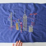 New York City sketch: embroidered!