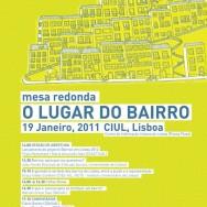 """Cartaz do colóquio """"O Lugar do Bairro"""", edição de 2011, organizado pela UAL"""