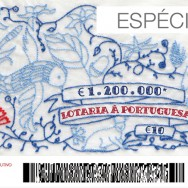 Ticket for the Portuguese lottery, final version. Peek behind the scenes.
