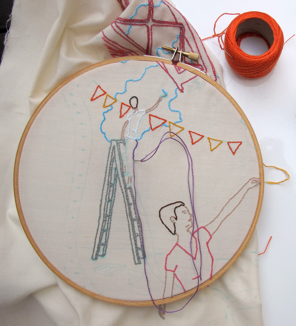 embroidery in progress-Ana Isabel Ramos