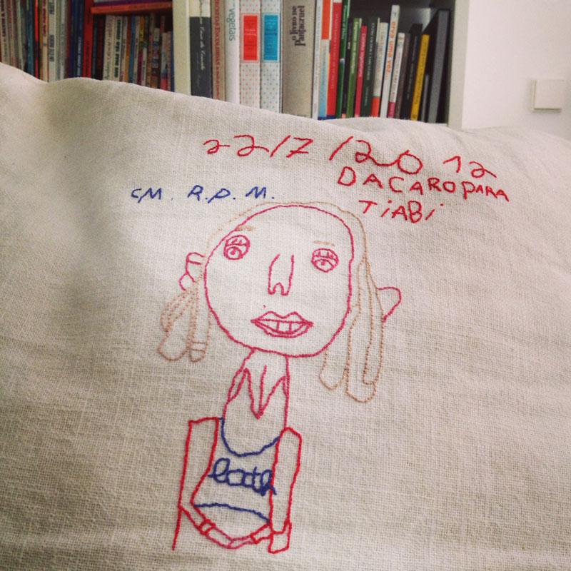 embroidered portrait of me, by my 7 year old niece