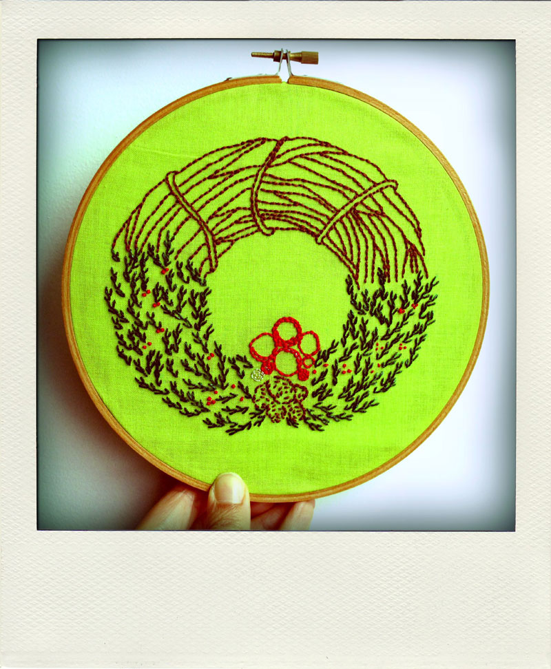 December at the air Embroidery Club.