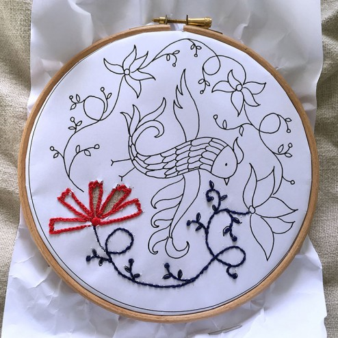 making of air Embroidery Club Feb 2016 - 05