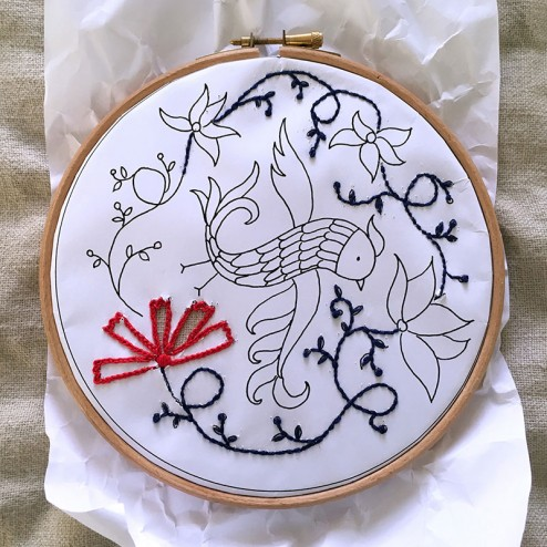 making of air Embroidery Club Feb 2016 - 06