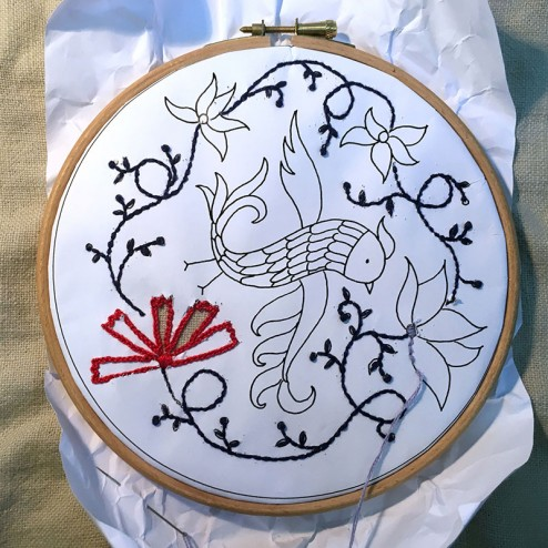making of air Embroidery Club Feb 2016 - 09
