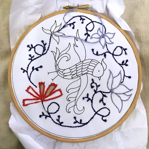 making of air Embroidery Club Feb 2016 - 10