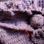 Uma manta? Ou um saco de tricot?