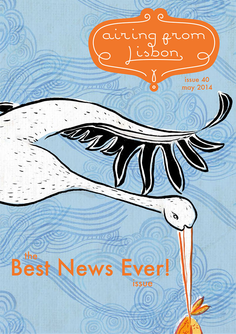 """cover of """"airing from Lisbon"""", an illustrated e-zine by Ana Isabel Ramos"""
