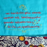Lia's embroidered blanket