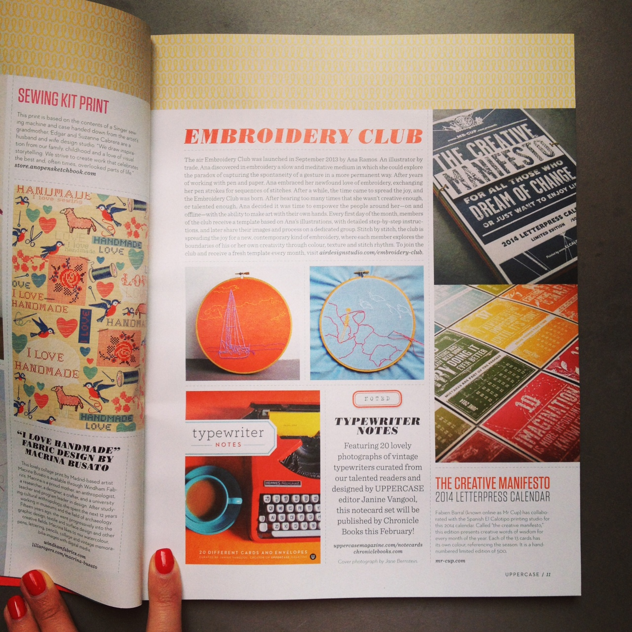 air Embroidery Club featured in Uppercase Magazine issue 20