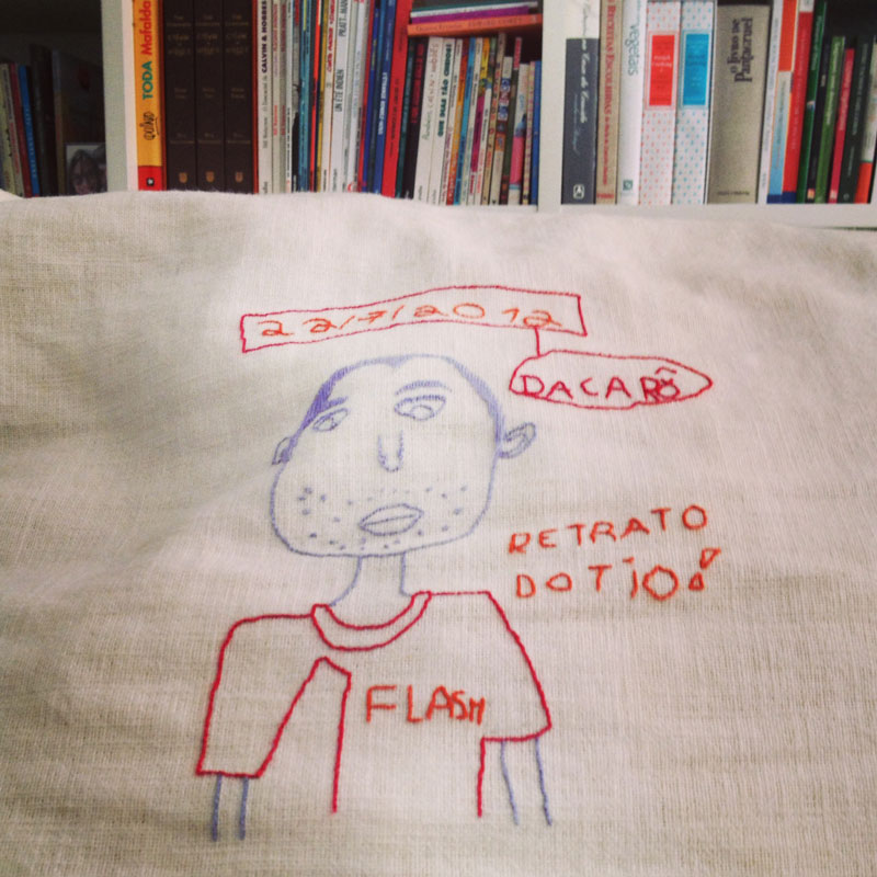 embroidered portrait of her uncle, by my 7 year old niece