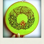An embroidered wreath