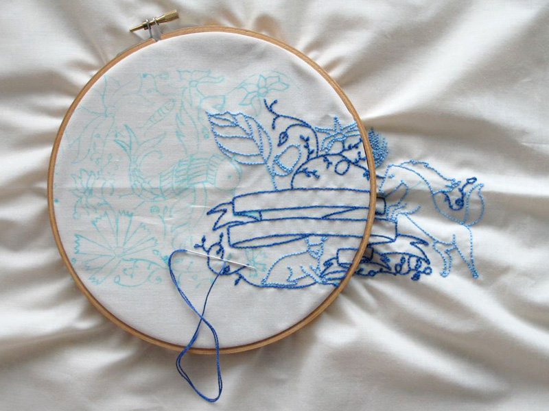 04_embroidery in progress