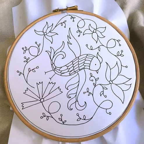 making of air Embroidery Club Feb 2016 - 02