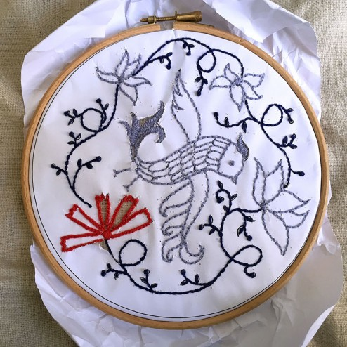 making of air Embroidery Club Feb 2016 - 12