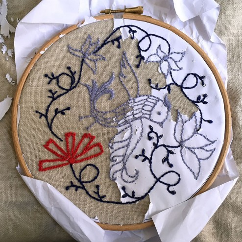 making of air Embroidery Club Feb 2016 - 13