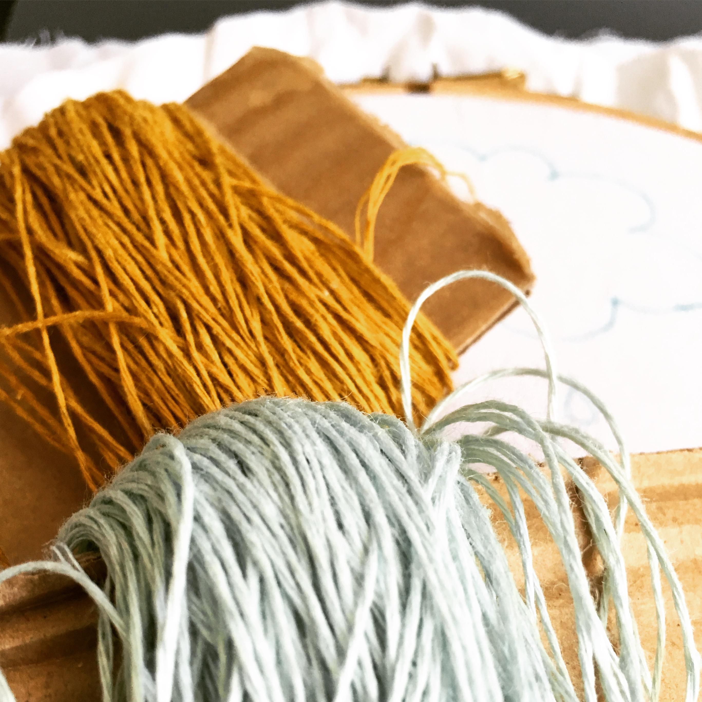 Purlwise linen mini skeins ready to start stitching!